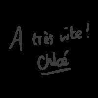signature manuscrite de Chloé