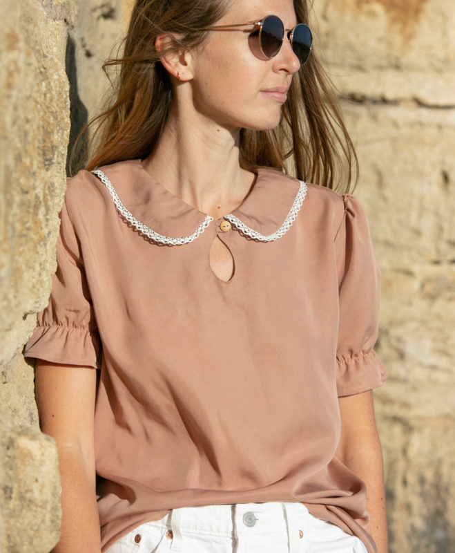 Blouse Justine April et C. Tencel, fabriqué en France, biodégradable