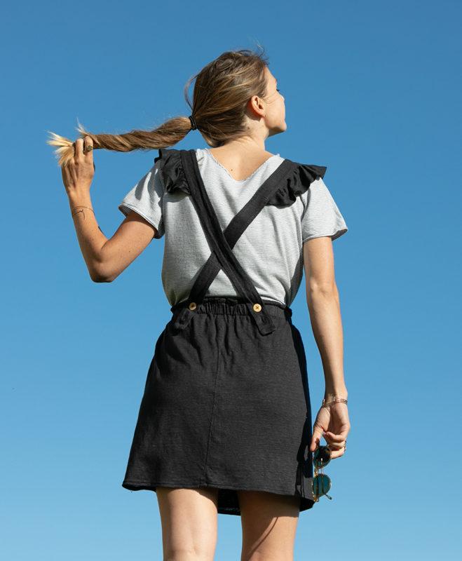 April et C. robe salopette Lauriane , 100% jersey de lin français, fabriqué en France