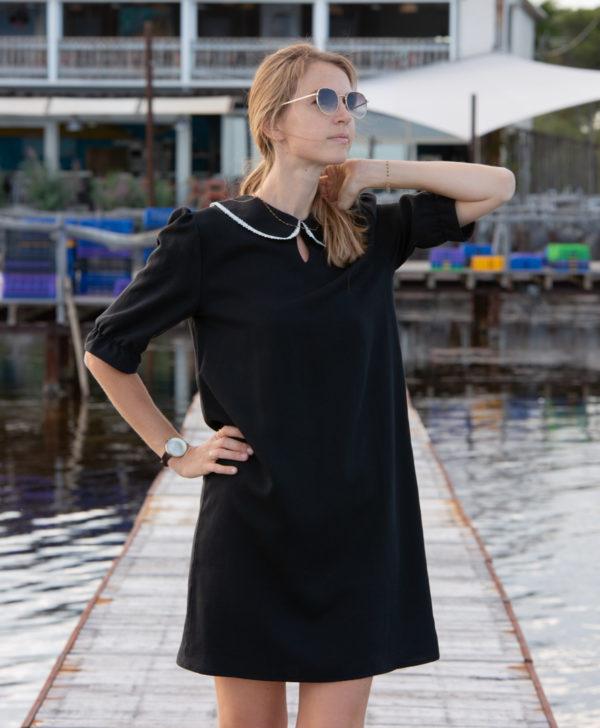 April-et-C. robe col Claudine dentelle 100% Tencel fabriqué en France