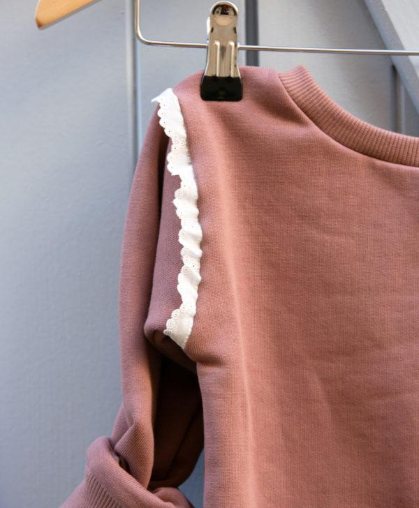 Petite fille sweat en coton biologique GOTS made in France du 3 au 10 ans