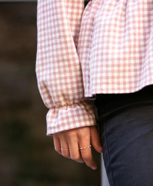 blouse femme carreaux flanelle coton biologique GOTS Eco responsable fabriquée en France