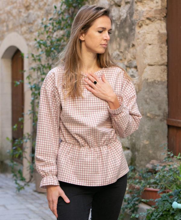blouse femme carreaux flanelle coton biologique GOTS Eco responsable made in France biodegradable